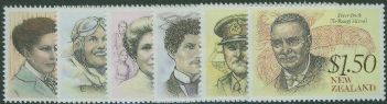 NZ SG1548-53 New Zealand Heritage (5th issue) Famous New Zealanders set of 6